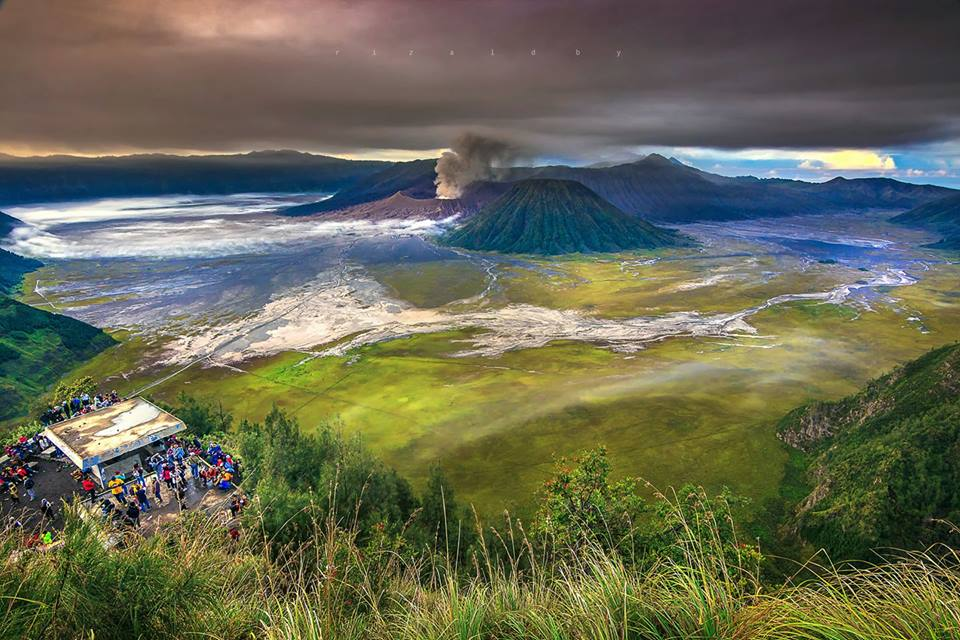 Mount Bromo Volcanoe near Malang city in Surabaya is a famous tourist destination.